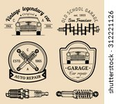 vector set of vintage sketched... | Shutterstock .eps vector #312221126