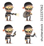 cartoon robbers | Shutterstock .eps vector #312237062