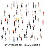 together we stand many... | Shutterstock . vector #312238556