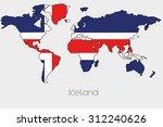 a flag illustration inside the... | Shutterstock .eps vector #312240626