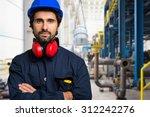 portrait of an industrial... | Shutterstock . vector #312242276