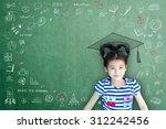 happy smart asian child girl w  ...   Shutterstock . vector #312242456