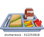 illustration of a meal tray... | Shutterstock .eps vector #312252818
