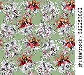 seamless floral pattern on... | Shutterstock . vector #312253862
