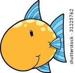 cute fish vector illustration | Shutterstock .eps vector #31225762