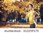 female fitness model training... | Shutterstock . vector #312259175