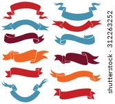 vector set of ribbons for your... | Shutterstock .eps vector #312263252