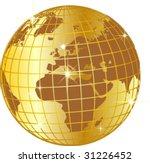 illustration of a golden globe... | Shutterstock .eps vector #31226452