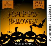 halloween party design vector... | Shutterstock .eps vector #312266696