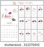 love calendar for 2016 with... | Shutterstock . vector #312270542