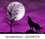 howling wolf in a dark and... | Shutterstock . vector #31228174