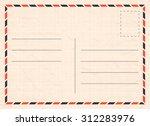 vector travel postcard with... | Shutterstock .eps vector #312283976