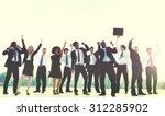 business people new york... | Shutterstock . vector #312285902