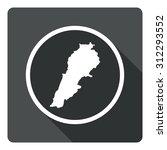 lebanon map dark sign icon....