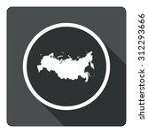 russia map dark sign icon....