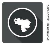 venezuela map dark sign icon....