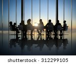 business people silhouette... | Shutterstock . vector #312299105