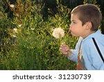 a small boy with big dreams ... | Shutterstock . vector #31230739