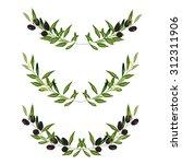 olive frame. vector illustration | Shutterstock .eps vector #312311906