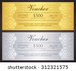 luxury golden and silver gift... | Shutterstock .eps vector #312321575