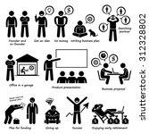 entrepreneur creating a startup ... | Shutterstock . vector #312328802