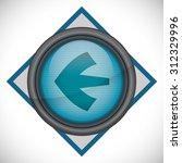 arrow design  over seal stamp ... | Shutterstock .eps vector #312329996