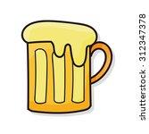 beer doodle | Shutterstock .eps vector #312347378