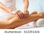 detail of hands massaging human ... | Shutterstock . vector #312351326