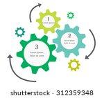 business infographics cogwheel... | Shutterstock .eps vector #312359348