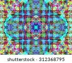 kaleidoscopic floral pattern ... | Shutterstock . vector #312368795
