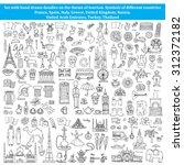 vector set of hand drawn... | Shutterstock .eps vector #312372182