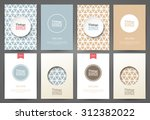 set of brochures in vintage... | Shutterstock .eps vector #312382022
