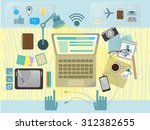 digital media illustration  | Shutterstock .eps vector #312382655