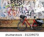 Urban Graffiti And Bike In A...