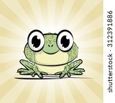 cute and funny little frog.... | Shutterstock .eps vector #312391886