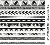 old greek border designs  | Shutterstock .eps vector #312392762