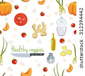 various vegetables icons set... | Shutterstock .eps vector #312394442