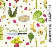 bamboo and artichoke salad...   Shutterstock .eps vector #312394448