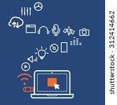 modern computer media... | Shutterstock .eps vector #312414662