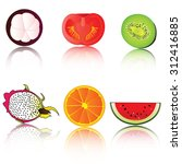 fruit icon. | Shutterstock . vector #312416885