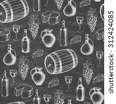 different kinds of wine bottles ... | Shutterstock .eps vector #312424085