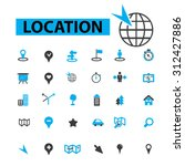 location icons concept. map  ... | Shutterstock .eps vector #312427886