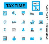 tax time  accounting  debt ... | Shutterstock .eps vector #312427892