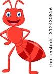 happy ant cartoon  | Shutterstock .eps vector #312430856