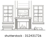 linear architectural sketch... | Shutterstock .eps vector #312431726