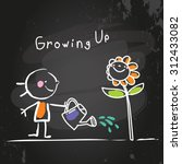 Growing Up Conceptual Vector...