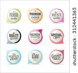 modern badge design | Shutterstock .eps vector #312441365