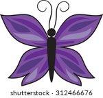 purple   butterfly   vector  ...