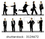 illustration of businessman and ... | Shutterstock . vector #3124672