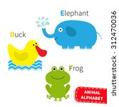 Letter D E F Duck Elephant Fro...
